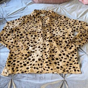 Cheetah print button down